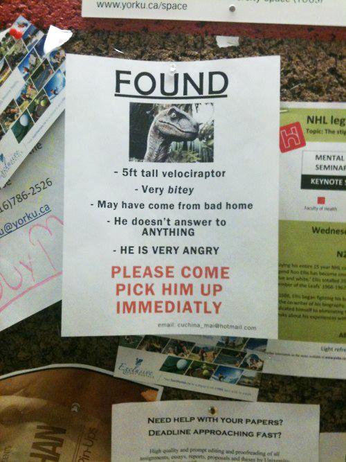 tph found velociraptor