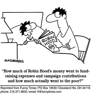 tph fundraising Robin Hood