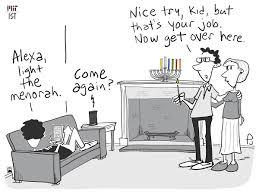 tph Alexa light the menorah